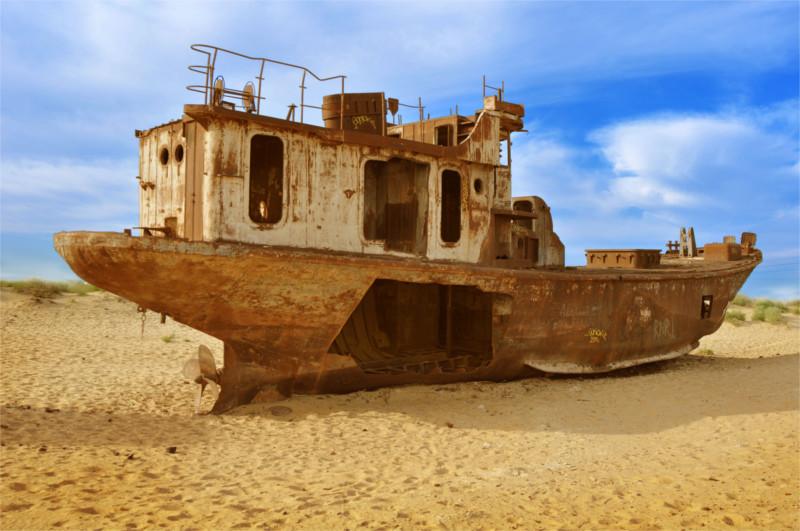 Aral Sea Ship Cemetery Central Asia Rally