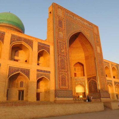 Central Asia Rally Uzbekistan Bukhara Mir-i-Arab Madrasa